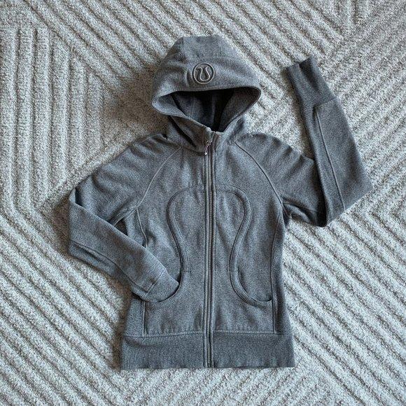 Lululemon Scuba Hoodie II, Size 4, Grey